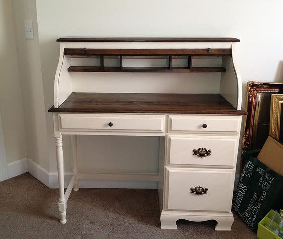 Image Result For Painted Old Double School Desk Desks Pinterest And