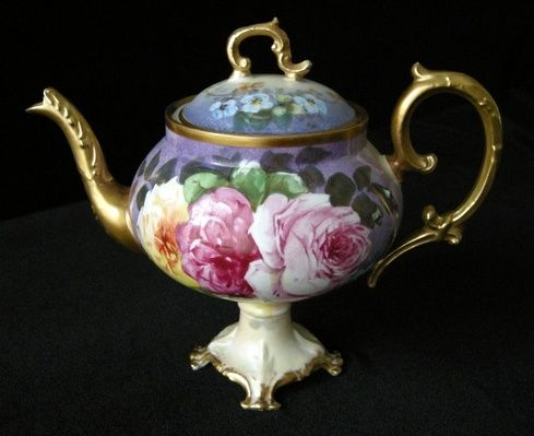 Lovely Limoges demitasse pot, marked Blakeman & Henderson Mark 2. The B Mark 2 dates to the 1890's.