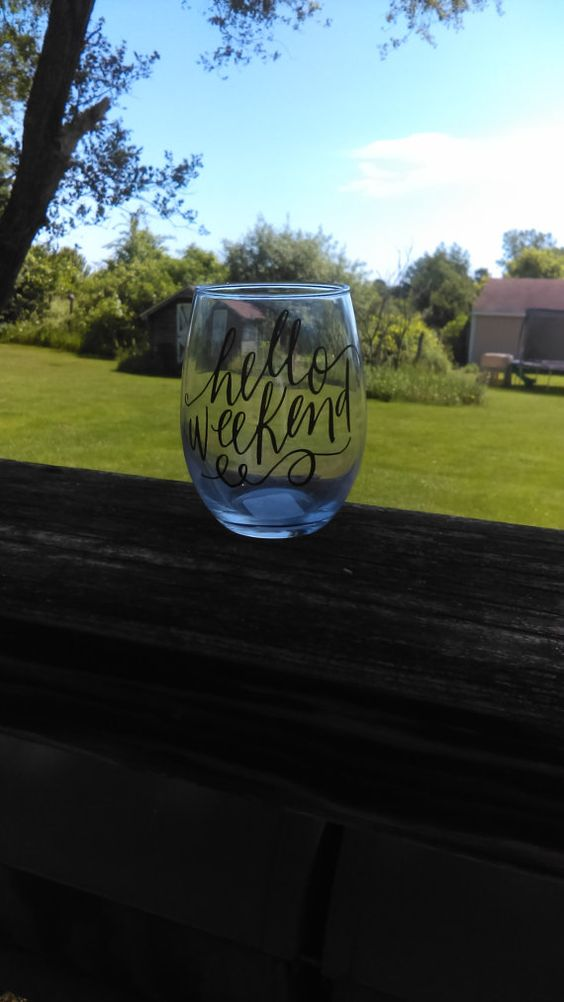 Personalized Wine Glass by ElleRiahBoutique on Etsy