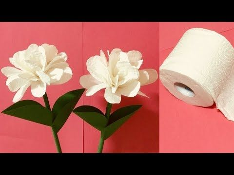 Beautiful Way To Tissue Paper Stick Flower Easy Paper Flower