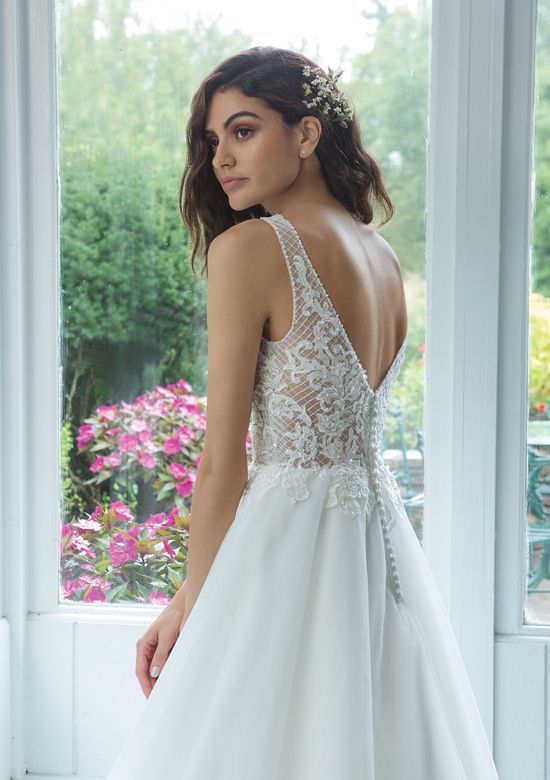 Style 11070 Illusion V Neckline Beaded Lattice Lace Ball Gown Wedding Dress Prices Ball Gowns Lace Ball Gowns