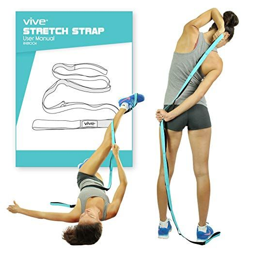Vive Stretch Strap Leg Stretch Band To Improve Flexibility Stretching Out Yoga Strap Exercise And Yoga For Flexibility Workout Guide Improve Flexibility