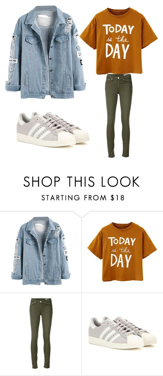 """""""Untitled #235"""" by ines-louu ❤ liked on Polyvore featuring rag & bone/JEAN and adidas"""