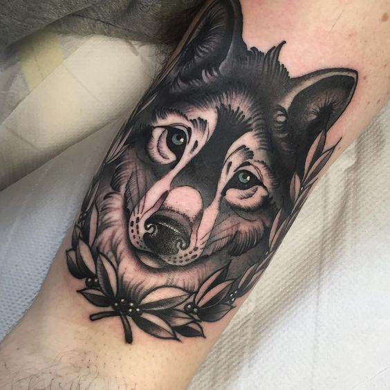 Thanks man for sitting so well for your first... @blackgardentattoo @blackngoldlegacy #wolf #wolftattoo #tattoo #london