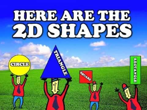 2D Shapes I Know- (song for kids)
