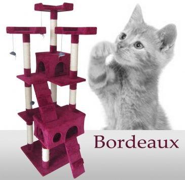 leopet® Kratzbaum, viel Spaße für Katze und Mensch. Farblich passend zu jeder Einrichtung! Zu kaufen bei Jago24 | Purple scratching post for cats, spice up your home!