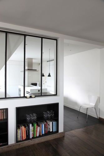 Niches noires sous les fen tres d 39 atelier d co pinterest lunettes - Fenetre loft atelier ...