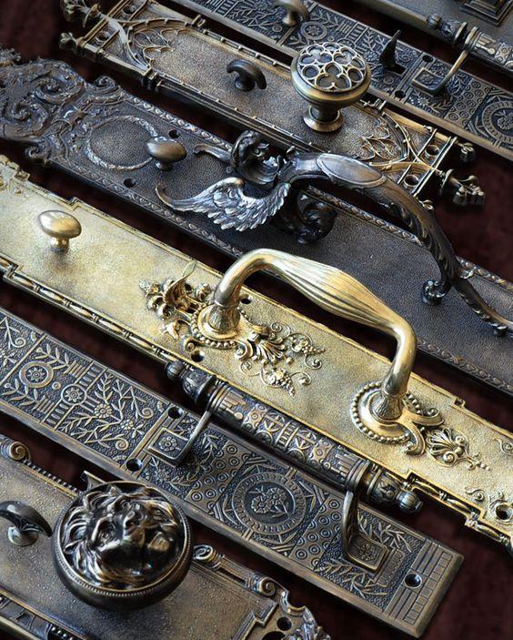 Victorian art deco and arts and crafts door hardware for Arts and crafts hardware