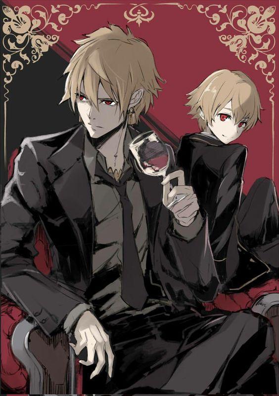 ワインを飲むギルガメッシュ