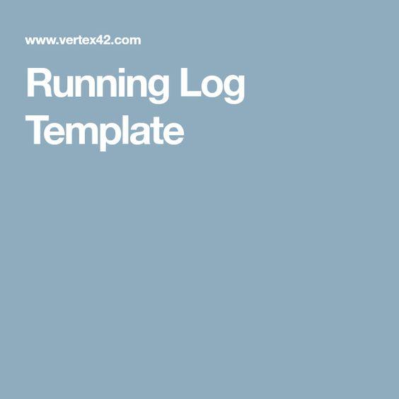 Running Log Template - Planner Pinterest - running log template