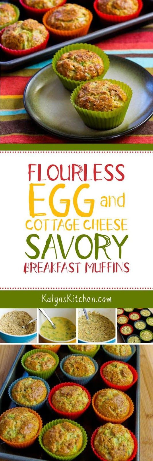 Flourless Egg and Cottage Cheese Savory Breakfast Muffins are low-carb ...