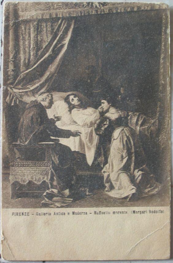 1917 Firenze -Galleria Arte Antica e Moderna - Raffaello Morente ( Morgari Rodolfo) n° 914 cartolina postale senza francobollo