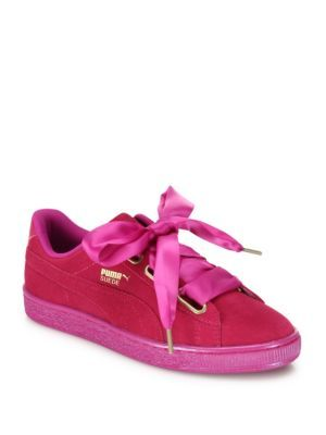 Puma Basket Heart Hot Pink