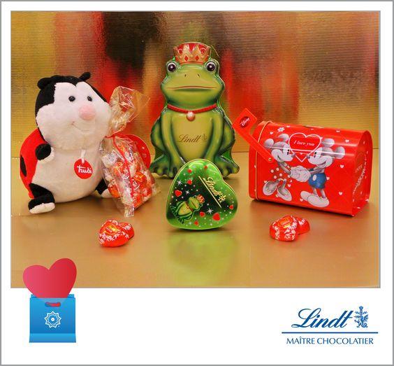 #San #Valentine's #Gift #idea #Disney #mail #box - #Lindt #Original price: 12€ #Outlet price: 10.80€ Little #frog #heart - Lindt Original: 12.70€ Outlet : 11.43€ #fluffy #ladybug - #Coccinella - Lindt Original: 20€ Outlet: 18€ Big frog tin -Lindt Original price: 5€ Available at Lindt - store number 56 http://www.palmanovaoutlet.it/it/outlet/negozi/lindt