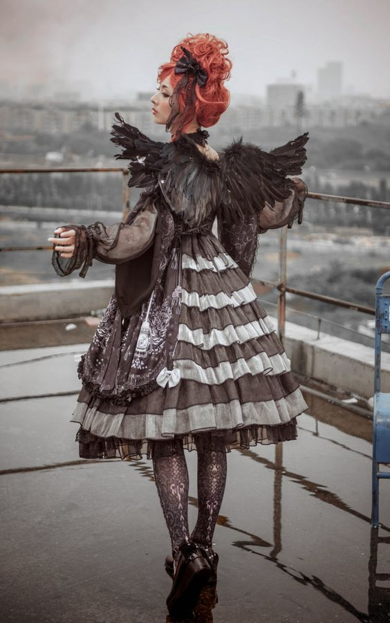 The Last Time Reminder: 【The Ann of April -Vanessa- Gothic Lolita OP Dress】 Will Be 【NOT Available In About 14 Hours Later】