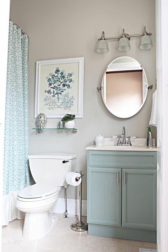 badezimmer einrichten helle pastellfarben Badezimmer Ideen - glastür für badezimmer