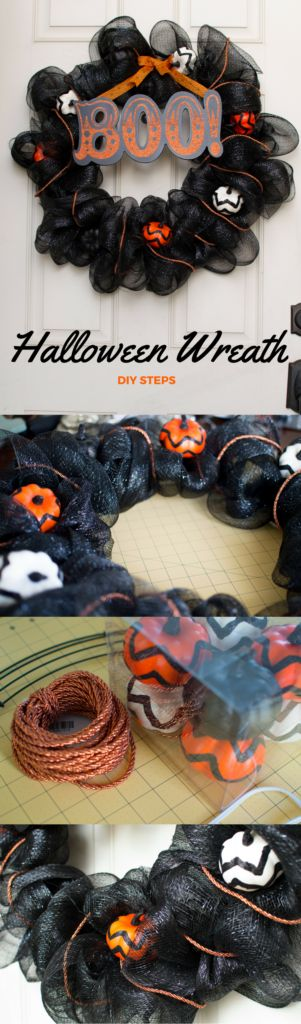 DIY Halloween Wreath Tutorial #halloweendecor #wreath