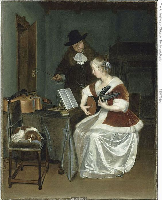 Gerard Terborch: the music lesson