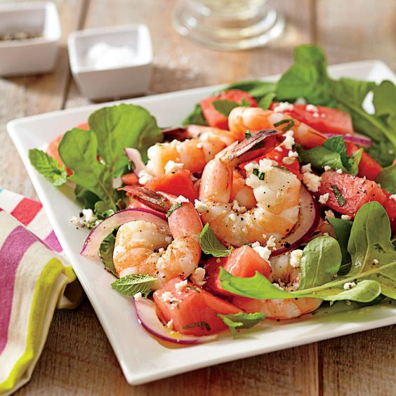 Shrimp, Watermelon, and Feta Salad - 60 Best Shrimp Recipes - Coastal Living