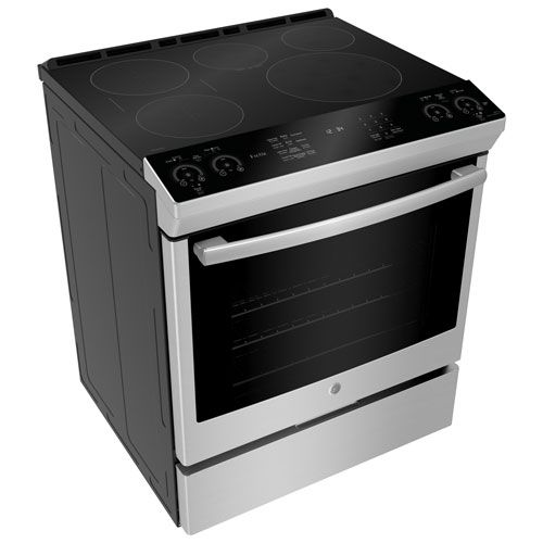Ge Profile 30 5 Element Slide In Smooth Top Electric Induction Range Pchs920smss Stainless Steel Induction Range Double Oven Electric Range Electric Range