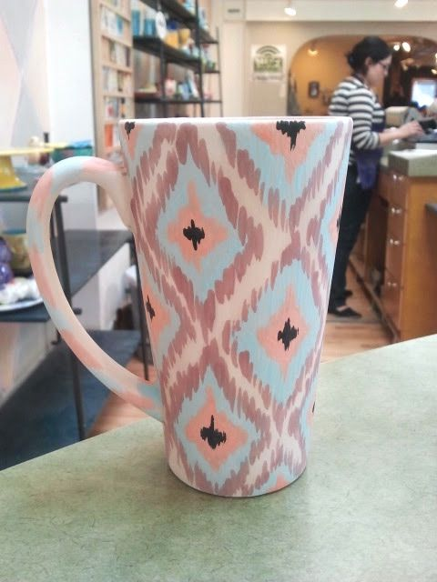 Hand painted mug designs google search cute for Cute pottery designs