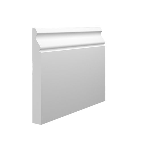 Pre-primed MDF Skirting Board Chamfered 119 x 14mm Matching Architraves Free P/&P