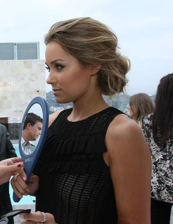 nice Lauren conrad messy low bun dark blonde...