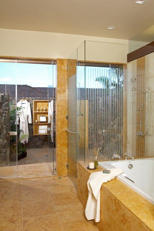 BATHS: Bathroom Design, Bathroom Interior Design, Luxury Bathroom, Outdoor Shower, Dream Home, Outdoor Bathroom, Dream Bathroom, Master Bathroom, Design Bathroom