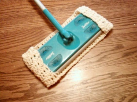 Sweeper/duster cover  set of three by Crochetandmore on Etsy, $15.00