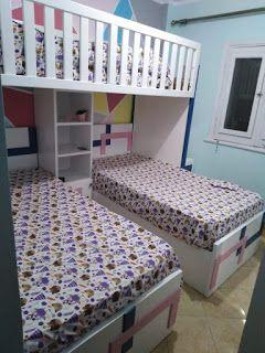 غرفة نوم سرير بدورين Bunk Bed Teenage Bedroom In 2020 Bunk Beds Bed Youth Bedroom