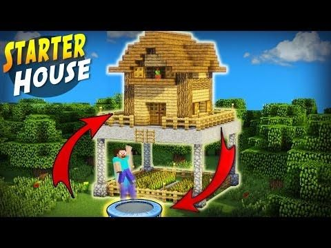 Minecraft How To Build A Mob Proof Starter Base Tutorial Safe Redstone House Minecraft Servers Web Msw Minecraft Architecture Minecraft Starter Home