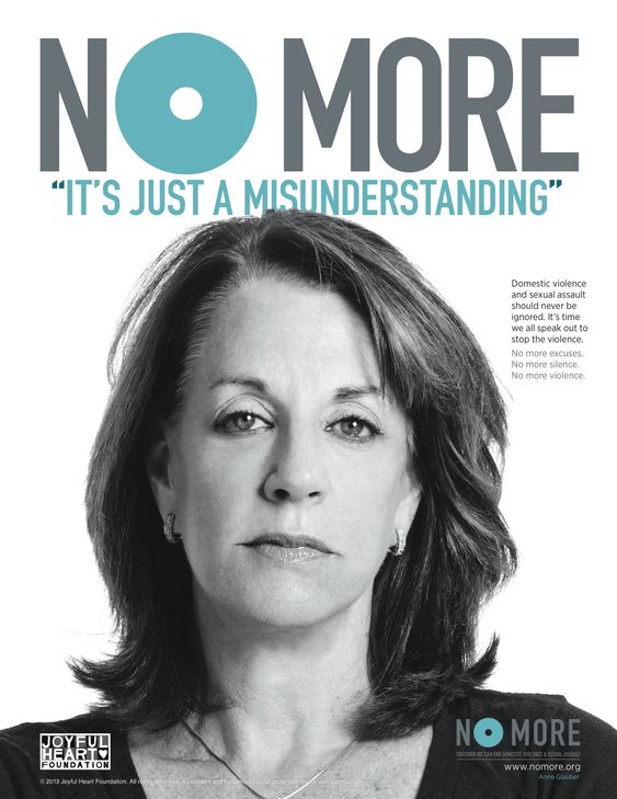 #NOMOREexcuses for domestic violence and sexual assault. October is Domestic Violence Awareness Month - share the NO MORE PSA ads today! #DVAM #DVAM2014:
