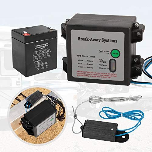 Bunker Indust Break Away System 12v 5ah Battery Breakaway Kit With Led Indicator Charger And Switch For Trail Led Indicator Cool Car Accessories Battery Logo