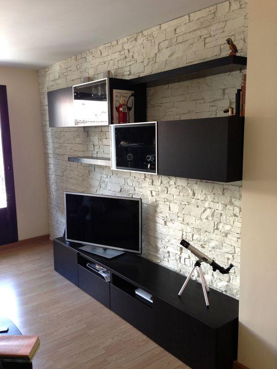 wandverkleidung stein optik wandgestaltung wohnzimmer. Black Bedroom Furniture Sets. Home Design Ideas