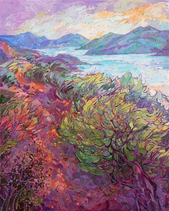 A California Coastal Summer Dawn Original Painting By Contemporary Impressionist Erin Hans Impressionist Art Fine Art Prints Artists Contemporary Impressionism