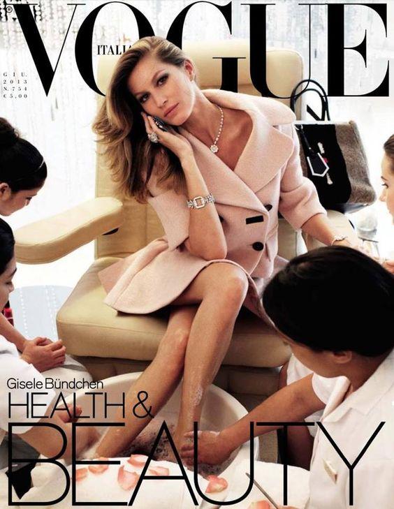 Gisele Bündchen para Vogue Itália por Steven Meise