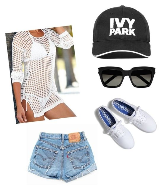 """""""Untitled #150"""" by juliffthegirl ❤ liked on Polyvore featuring Keds, Levi's, Ivy Park and Yves Saint Laurent"""