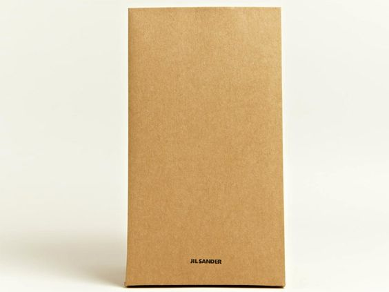 $290 lunch bag made of coated paper, by Jil Sander.  The $630 leather version is a much better value, IMHO.