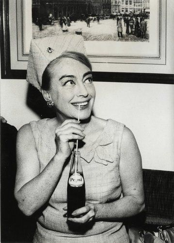 Joan Crawford married her fourth husband Alfred Steele who was the president of Pepsi