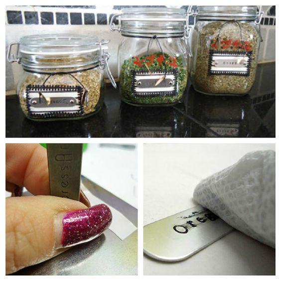 #MasonJar Crafts - Altered Spice Jars