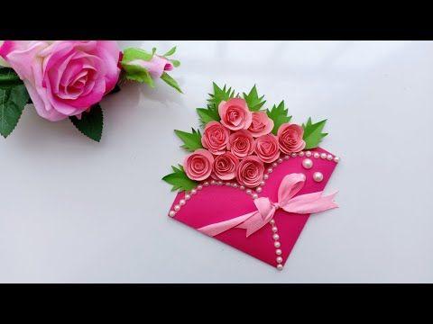Beautiful Handmade Birthday Card Birthday Card Idea Youtube Handmade Birthday Cards Greeting Cards Handmade Paper Flowers Craft