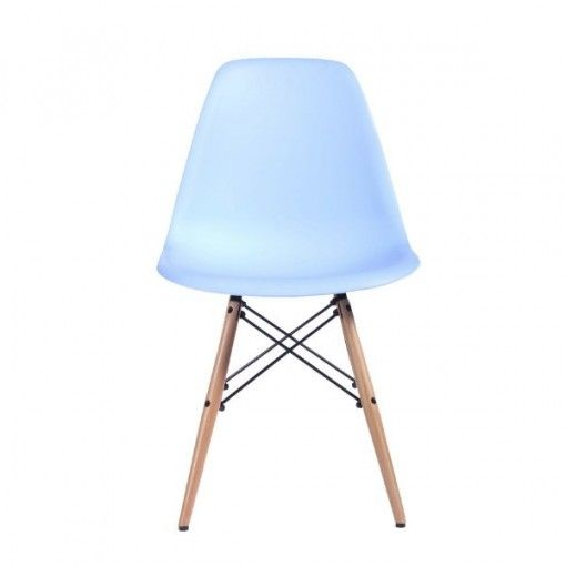 #Silla de comedor Wooden New Collection Azul claro