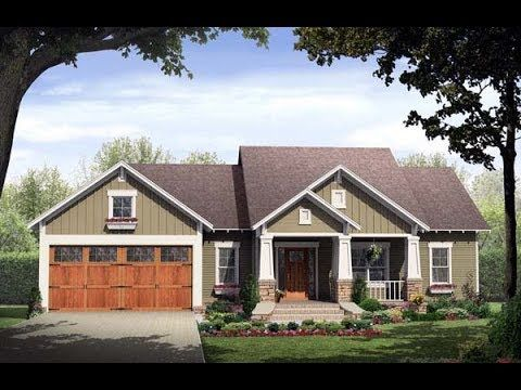 Craftsman Style House Plan 59146 With 3 Bed 2 Bath 2 Car Garage Ranch Style House Plans Craftsman House Plans Craftsman Style House Plans