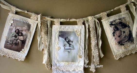 Fabric & Lace photo frames banner