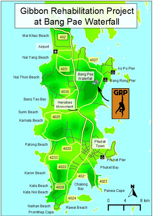 map & directions - Gibbon Rehabilitation Project in Phuket ...