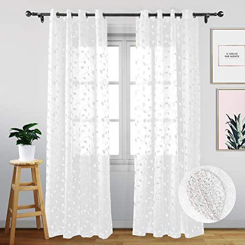 Eamior Semi Sheer Curtains Curtains Sheer Curtains Panel Curtains