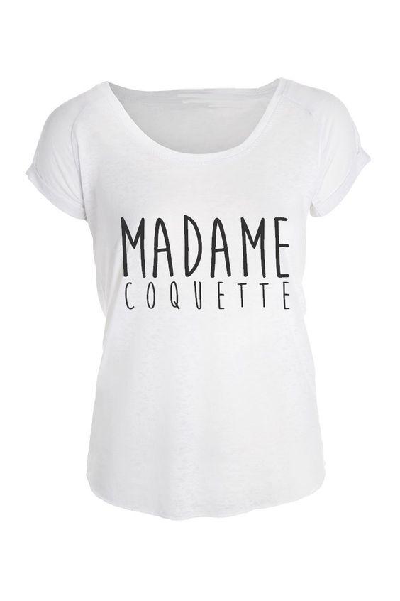 T-shirt MADAME pour femme - taille S à XL **Texte au choix**