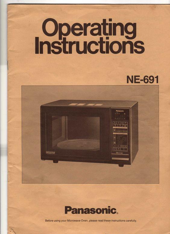 panasonic dimension 4 microwave instructions