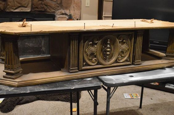 old coffee table to upholstered entry bench, painted furniture, shabby chic