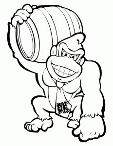 Donkey Kong Stencil Super Mario Coloring Pages Mario Coloring Pages Colouring Pages